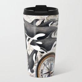 Orca Pod Vintage Map Travel Mug