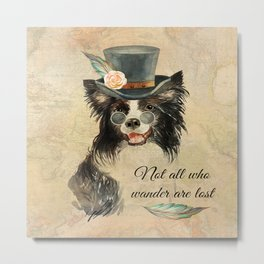 Steampunk Border Collie Metal Print