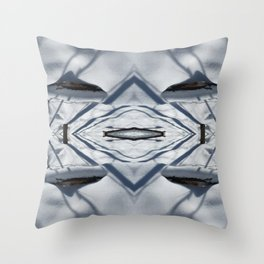 Snow Lines Throw Pillow