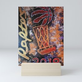 raptors 4,champion,basketball,gold,poster,wall art,2019,winners,NBA,finals,toronto,canada,painting Mini Art Print