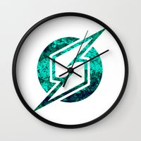 metroid Wall Clocks featuring Metroid Logo by Bradley Bailey