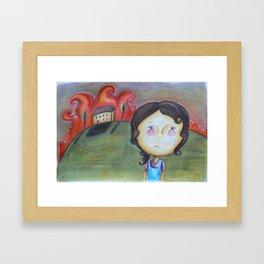 Burnt Heart Framed Art Print