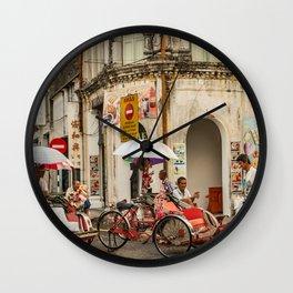 George Town, Penang Trishaw Break Wall Clock