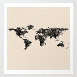 a painted world.  Art Print