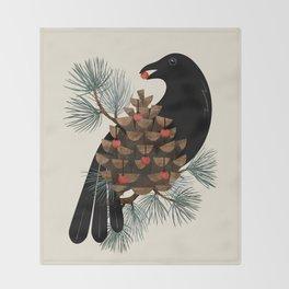 Bird & Berries Throw Blanket