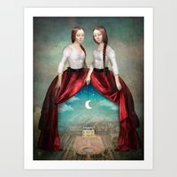 theatre Art Prints featuring Celestial Theatre by Christian Schloe