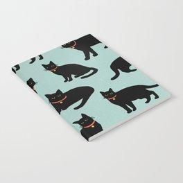 Black cats / Illustration / Pattern Notebook