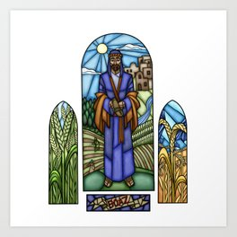 Boaz Stained Glass Art Print