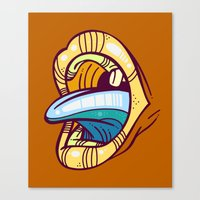mouth Canvas Prints featuring Mouth by Artistic Dyslexia