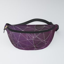 Polygonal purple ,white and black Fanny Pack