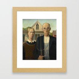 AMERICAN GOTHIC - GRANT WOOD Framed Art Print