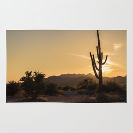 Saguaro Sunset Salute Rug