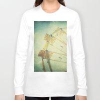 glee Long Sleeve T-shirts featuring Ferris Wheel by Honey Malek