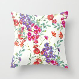 fresh floral spring scatter Throw Pillow