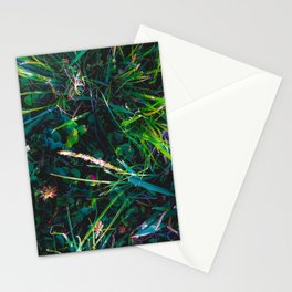 green leaves plant texture background Stationery Cards