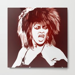 Tina - Pop Art Metal Print