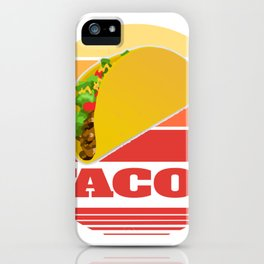 Mexican Party Sunset Design Graphic Tee Shirt Gift Cool Tacos Tortilla Burrito Nachos Pride Men iPhone Case