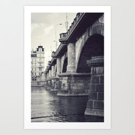 Bridge, Prague. Art Print