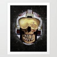 ...WAS     (Skull series 3 of 3) Art Print