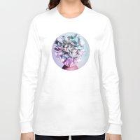 hydrangea Long Sleeve T-shirts featuring HYDRANGEA HEART by INA FineArt
