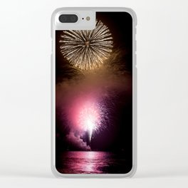 Fireworks Display Clear iPhone Case