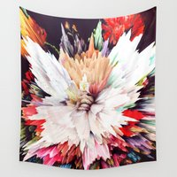 theatre Wall Tapestries featuring Floral Explosion by Kate Tova