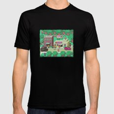 Earthbound town MEDIUM Black Mens Fitted Tee