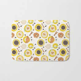 Coffee upper view Bath Mat
