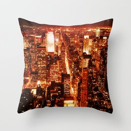 New York : Manhattan Throw Pillow