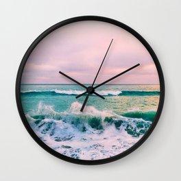 beach ocean circle print Wall Clock