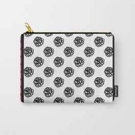 Framed scribble polka dots Carry-All Pouch