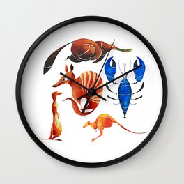 Australian animals 2 Wall Clock