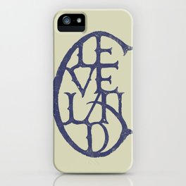 Vintage Cleveland Typography (Light) iPhone Case