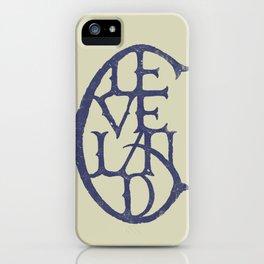 Vintage Cleveland Typography (Light) iPhone Case