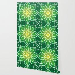 Shades of Green | Geometric Pattern Wallpaper
