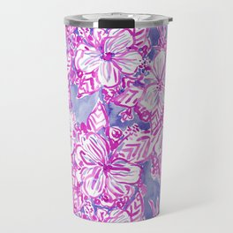 HIBISCUS FTW Tropical Pink Floral Travel Mug