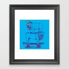 Double Dog Dare Framed Art Print