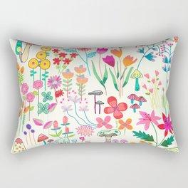 The Odd Floral Garden I Rectangular Pillow