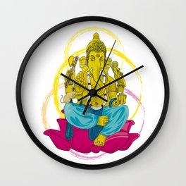 01 - GANESHA Wall Clock