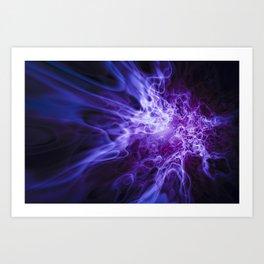 Real Purple Fire Art Print
