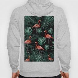 Tropical Flamingo Night Pattern #1 #tropical #decor #art #society6 Hoody