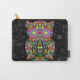 Owl Zentangle Floral   Carry-All Pouch