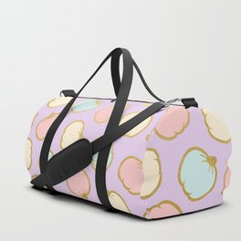 Pastel Pumpkin Pattern with Gold Duffle Bag
