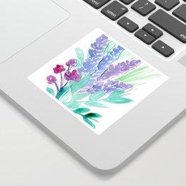 Lavender Floral Watercolor Bouquet Sticker