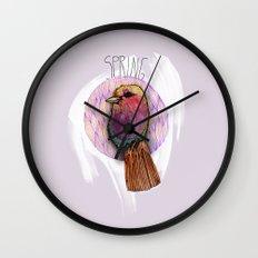 Spring birdy / Nr. 4 Wall Clock