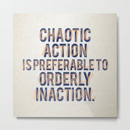 Chaotic Action Metal Print