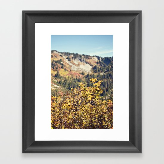 Fall in the Mountains  Framed Art Print