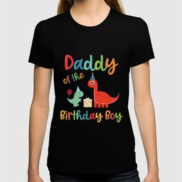 Mens Daddy of the Birthday Boy Cute Dinosaur Family Matching product T-shirt