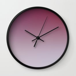 HOLD YOUR BREATHE - Minimal Plain Soft Mood Color Blend Prints Wall Clock