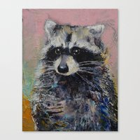 raccoon Canvas Prints featuring Raccoon by Michael Creese